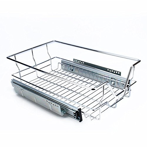 Yosoo Cestos Extraíbles para Mueble de Cocina on Guías Telescópicas, Cajón Telescópico con Superficie de Almacenamiento, Cesta de Cocina (S)
