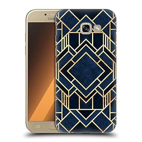 Officiel Elisabeth Fredriksson Fantaisie D'Art Déco Bleue Design Géométrique Et Modèle Étui Coque D'Arrière Rigide Pour Samsung Galaxy A5 (2017)