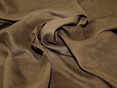 Polyester Kleid Stoff Wildleder braun-Meterware + Gratis Minerva Crafts Craft Guide -