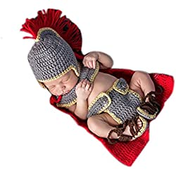 Disfraz para bebé especial para sesión de fotografía, disfraz de general del ejercito hecho de ganchillo, unisex