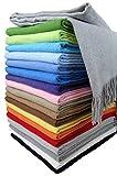 STTS International Baumwolldecke Wohndecke Kuscheldecke Tagesdecke 100% Baumwolle 130 x 170 cm sehr weiches Plaid Rio Hellgrau