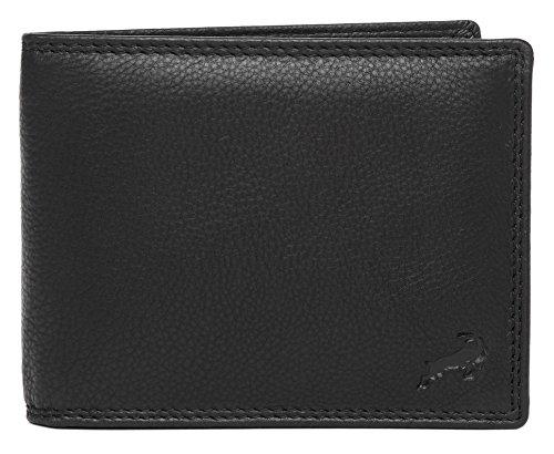 Geldbörse für Herren aus Leder mit 100% Zufriedenheitsgarantie | Geldbeutel / Portemonnaie | Geschenke für Männer | Wallet / Portmonee / Brieftasche - SCHWARZ