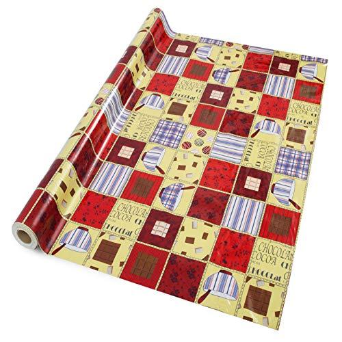 casa pura® Wachstischdecke Crazy Quilt | abwaschbar | ideale Größe wählbar, Meterware (1000x140cm)