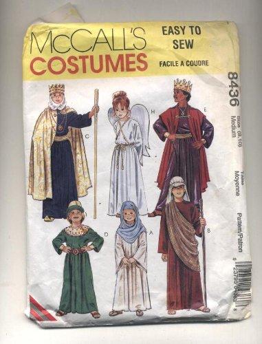 McCall 's Schnittmuster # 8436: Kinder Kostüme: biblischen Zeichen, Weisen, Magi, Mary, Engel, Hirte