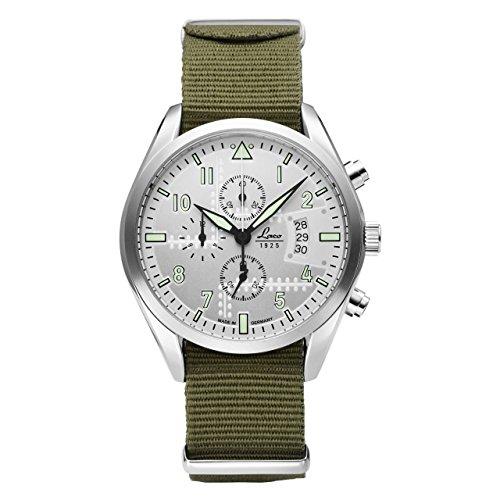 Laco Seattle de hombre cronógrafo verde nylon pulsera 861918
