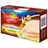 California Garden Canned Smoked Tuna Slices In Sunflower Oil 120g