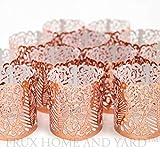 Led Papier Votiv Kerzenständer Teelichthalter 48 Kupfer Farbige Dekorative Kerzenhalter / Halter für Flammenlose Teelichter und Votivkerzen