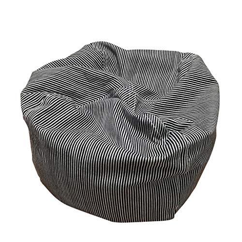 Canapés Pouf Petit en Tissu Coussin Portable Pouff Intérieur Noir (Color : Black, Size : 11 * 11 * 11in)