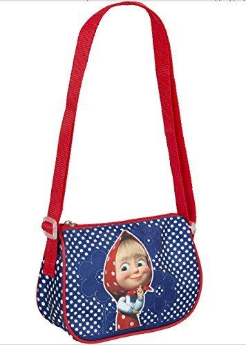 [RusToyShop] Vorschulrucksack Mascha und der Bär, Babytasche, Kleiner Rucksack für Kinder, Tasche Mädchen süßer Rucksack Kindergarten für Baby, kleines Mädchen,