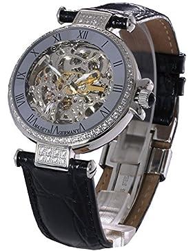 Damen-Automatikuhr / Damenarmbanduhr / Damenuhr -L&G Atlantis- mit sichtbarem Uhrwerk