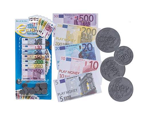 Out of the blue Spielgeld Kunstoff Münzen Papier Scheine 90 teilig Währung € Euro Kaufladen Kind