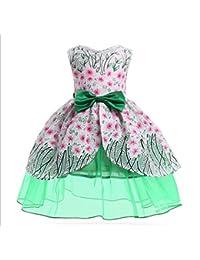 Nuevo Vestido Ligero de niña niña Pettiskirt Vestido Falda niño greenZHANGM (Color : Verde,