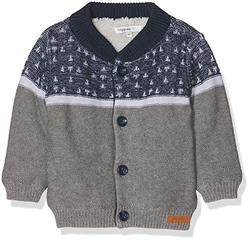 Noppies Baby-Jungen Strickjacke B Cardigan Knit Victoria Mehrfarbig (Navy C166) 68