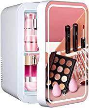LINGAO Mini Fridge 10 Liter Portable Beauty Makeup Skincare Fridge Cosmetics Refrigerator Compact Cooler Warme