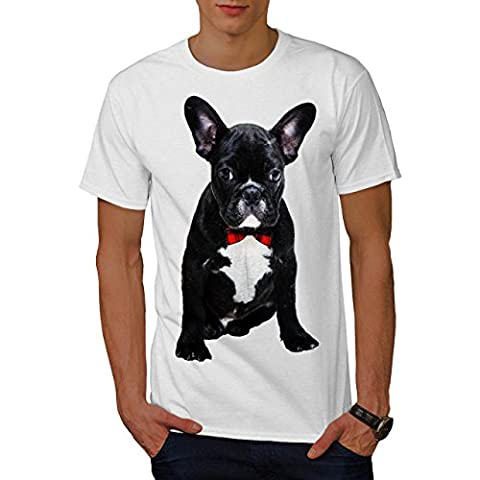 Fantaisie français Bouledogue Noir Code Men S T-shirt | Wellcoda