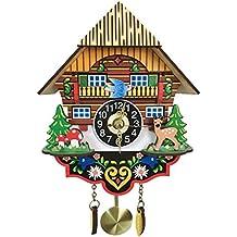 B Blesiya Reloj de Pared de Cuco con Péndulo de Madera Antiguo Adorno para Cafetería Sala