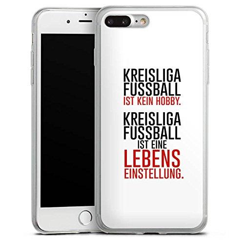 Apple iPhone 8 Slim Case Silikon Hülle Schutzhülle Kreisliga Lebenseinstellung Fußball Silikon Slim Case transparent