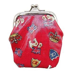 Cath Kids Mini Clasp Purse royal Stan Geldbörse rot mit Kronen und Hunden