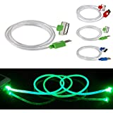 ELENXS® Fashion Practical Visible LED Light USB Data Sync Charger Charging Cable Cord For iPhone4/4S Green