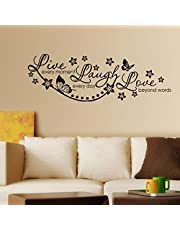 Decals Design 'Live Laugh and Love Family' Wall Sticker (PVC Vinyl, 45 cm x 30 cm, Black)