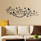#10: Decals Design 'Live Laugh and Love Family' Wall Sticker (PVC Vinyl, 60 cm x 45 cm, Black)