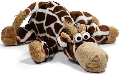 hundeinfo24.de Knuffelwuff 13014 Hundespielzeug Giraffe aus Plüsch mit Quietscher, 44 cm