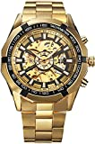 Winner Luxury Gold Dial Automatic Mechanical Watch for Men's & Boys
