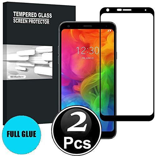 Scott-DE LG Q7/LG Q7 Plus/LG Q7 Schutzfolie, 3D Curved Edge Glas Folie 9H Härte Panzerglas [Anti-Kratzen] [Anti-Bläschen] Bildschirmschutzfolie für LG Q7/LG Q7 Plus/LG Q7 [X2-Schwarz]
