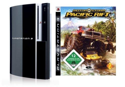 Playstation 3 - Konsole 80 GB inkl. Dual Shock 3 Wireless Controller + Motorstorm Pacific Rift - Ps3 Konsole 80