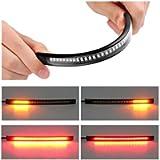 ZHUOTOP Motorcycle Light LED Strip Tail Brake Stop/Turn Sign Light 48 LED Universal Flexible