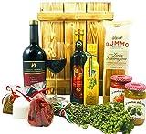 Großes Italienisches Geschenkset mit Holzkiste | Geschenkkorb gefüllt mit Wein und Delikatessen | Geschenk Set mit Italienische Spezialitäten, Feinkost