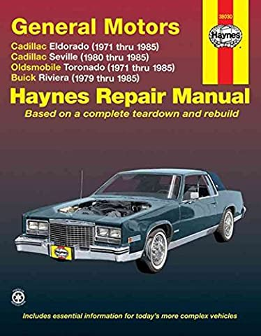 [(GM Eldorado and Seville, Oldsmobile Toronado, Buick Riviera Automotive Repair Manual)] [By (author) Mike Stubblefield ] published on (January, 1997)