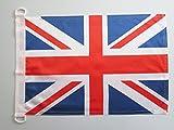 BANDERA NAUTICA del REINO UNIDO 45x30cm - Pabellón de conveniencia INGLESA - BRITANICA – UK 30 x 45 cm anillos - AZ FLAG