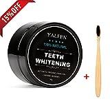 FOXTSPORT Polvo de Dientes + Cepillo de dientes de bambú, Polvo Blanqueador de dientes, Blanqueador Dental de Carbón Activado, Dientes Blancos,Teeth Whitening Powder,30g