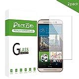 PaceBid [2 Stück HTC ONE M9 Panzerglas Schutzfolie, Tempered Glass [9H Härte] [Anti-Fingerabdruck] [Ultra-klar] Panzerglasfolie Bildschirmschutzfolie Für HTC ONE M9