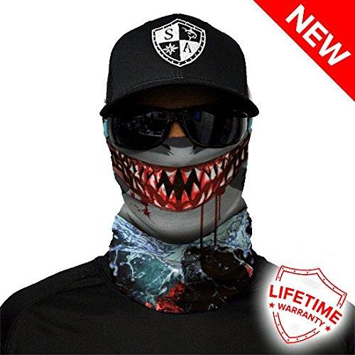 A.S.98 SA Company Unisex Shark Face Design Kappen, Mehrfarbig, one Size