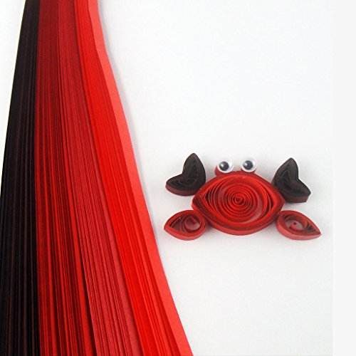 Quill On Tones of Red Quilling Strips, Red (5mm)