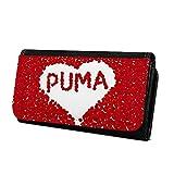 Geldbörse mit Namen Puma - Design Rosenherz - Brieftasche, Geldbeutel, Portemonnaie, personalisiert für Damen und Herren