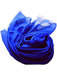 Prettystern - Stola Seidenschal zweifarbig changierend Damenschal Abendkleid Begleiter XXL - XL- Farbwahl