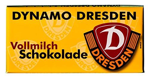 SG Dynamo Dresden (SGD) Schokolade Teamschokolade Vollmilch 100g Tafel, nicht nur für Weihnachten