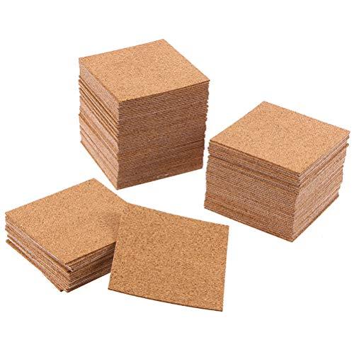 Healifty 10 Stücke 2mm Dicke Selbstklebende Platz Kork untersetzer hitzebeständige Kork Pads Trinken tassen Trivet tischset für zu Hause Restaurant