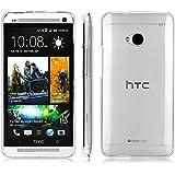 HTC One M7 Funda, YVBOX Ultra Fina Suave TPU Bumper Silicona Gel Carcasa Trasera Protectora Caso Transparente con Absorción de Impactos Anti-Arañazos Espalda Case Cover para HTC One M7 - Claro