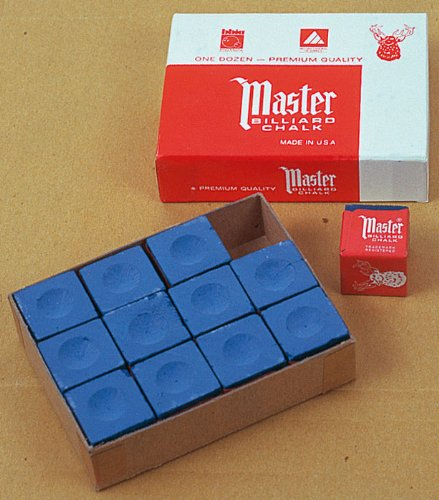 Master Billard Kreide Blau 12 Stück im Pack