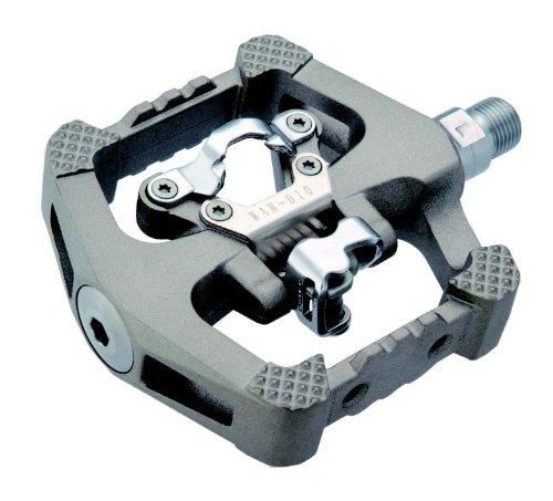 Wellgo D10 Magnesium Downhill MTB Click SPD Plattform Pedale titan-finish