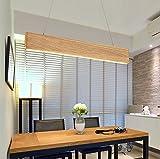 ZMH LED Pendelleuchte esstisch 18W Holz Hängeleuchte höhenverstellbar Pendellampe Hängelampe 3000K Warmweiß Licht für Büro, Esstisch, Arbeitszimmer, Wohnzimmerlampe (Warmweiß)