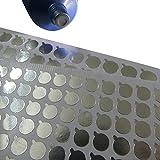 2 fogli di alluminio 9mm pellicola adesiva pellicola per tappo bottiglie tubo morbido (120 pezzi / foglio)