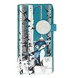 Shagwear Junge-Damen Geldbörse, Large Purse Designs: (Winter Füchse/Winter Fox-Teal)