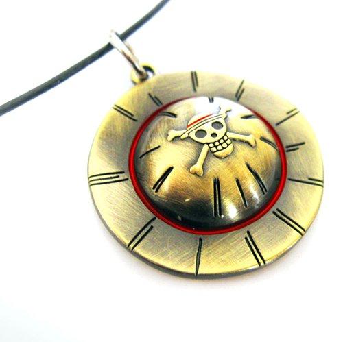 Collana del cranio del pendente di simbolo di un pezzo Rufy Cappello di Paglia collana One Piece
