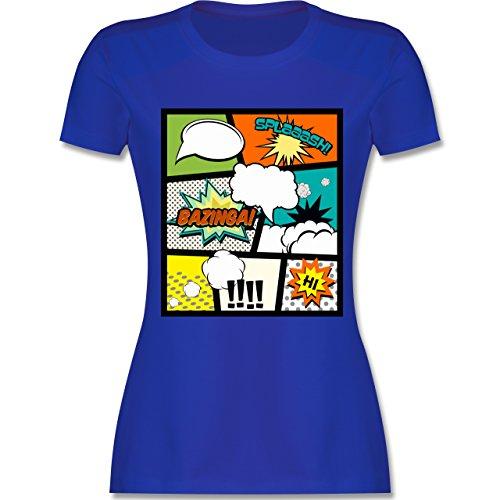 Comic Shirts - Comic Buchseite - tailliertes Premium T-Shirt mit  Rundhalsausschnitt für Damen Royalblau