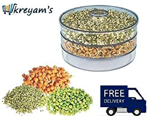 kreyam's® Sprout Maker - 1.5ml Plastic (White, Clear)